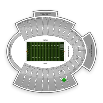 UTEP Miners Football at Sun Bowl Stadium Section 19 View