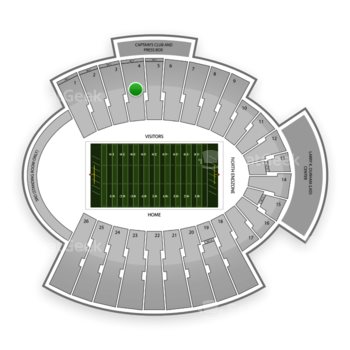 UTEP Miners Football at Sun Bowl Stadium Section 4 View