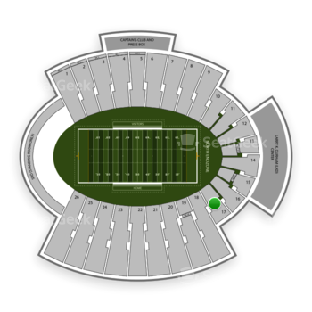UTEP Miners Football at Sun Bowl Stadium Section 17 View