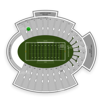 UTEP Miners Football at Sun Bowl Stadium Section 2 View