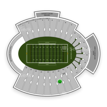 UTEP Miners Football at Sun Bowl Stadium Section 20 View