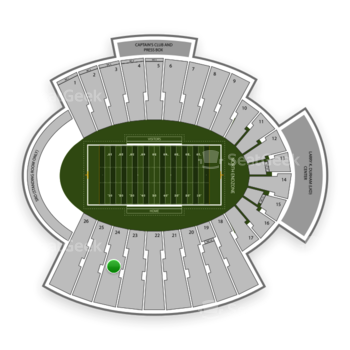 UTEP Miners Football at Sun Bowl Stadium Section 24 View