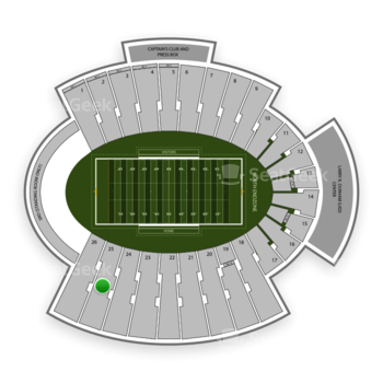 UTEP Miners Football at Sun Bowl Stadium Section 25 View