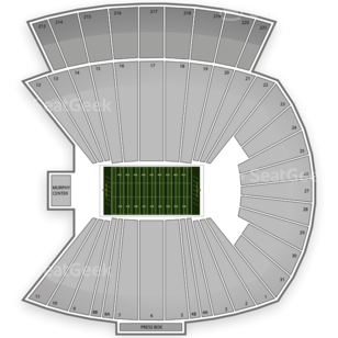 East Carolina Pirates Football Seating Chart