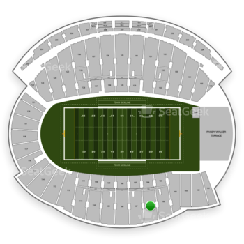 Northwestern Wildcats Football at Ryan Field Section 106 View