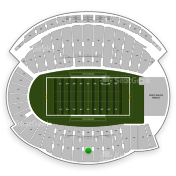 Northwestern Wildcats Football at Ryan Field Section 108 View