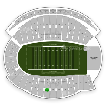 Northwestern Wildcats Football at Ryan Field Section 109 View
