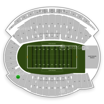 Northwestern Wildcats Football at Ryan Field Section 114 View