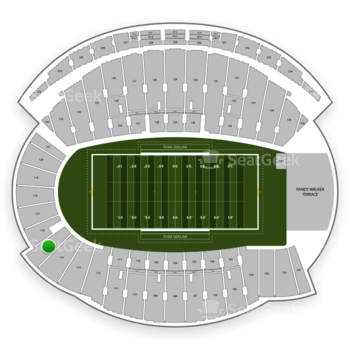 Northwestern Wildcats Football at Ryan Field Section 115 View