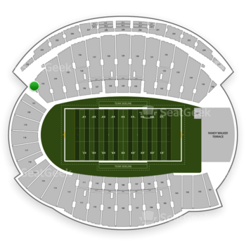 Northwestern Wildcats Football at Ryan Field Section 122 View