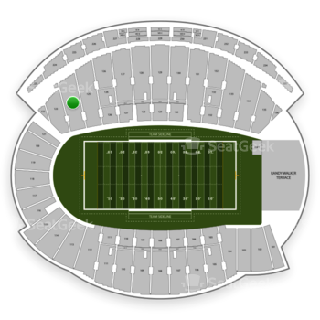 Northwestern Wildcats Football at Ryan Field Section 124 View