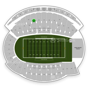 Northwestern Wildcats Football at Ryan Field Section 127 View