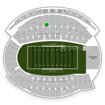 Northwestern Wildcats Football at Ryan Field Section 128 View