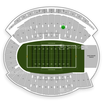 Northwestern Wildcats Football at Ryan Field Section 131 View