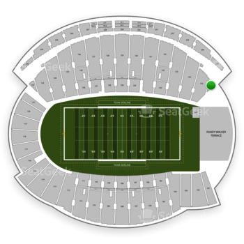 Northwestern Wildcats Football at Ryan Field Section 136 View