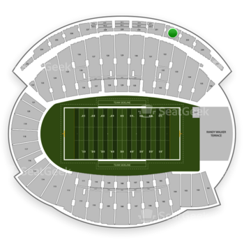 Northwestern Wildcats Football at Ryan Field Section 232 View