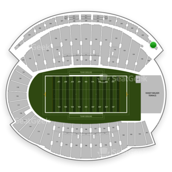 Northwestern Wildcats Football at Ryan Field Section 235 View