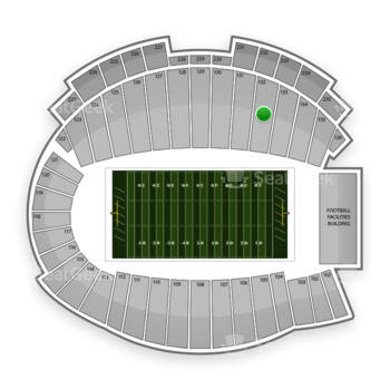 Northwestern Wildcats Football at Ryan Field Section 132 View