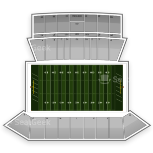 Louisiana-Lafayette Ragin' Cajuns Football Seating Chart