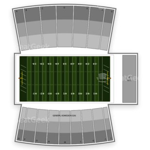 Northern Illinois Huskies Football Seating Chart