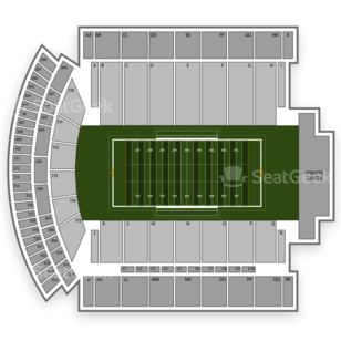 Southern Miss Golden Eagles Football Seating Chart