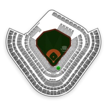 Los Angeles Angels at Angel Stadium Section 122 View