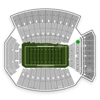Virginia Tech Hokies Football at Lane Stadium Section 201 View