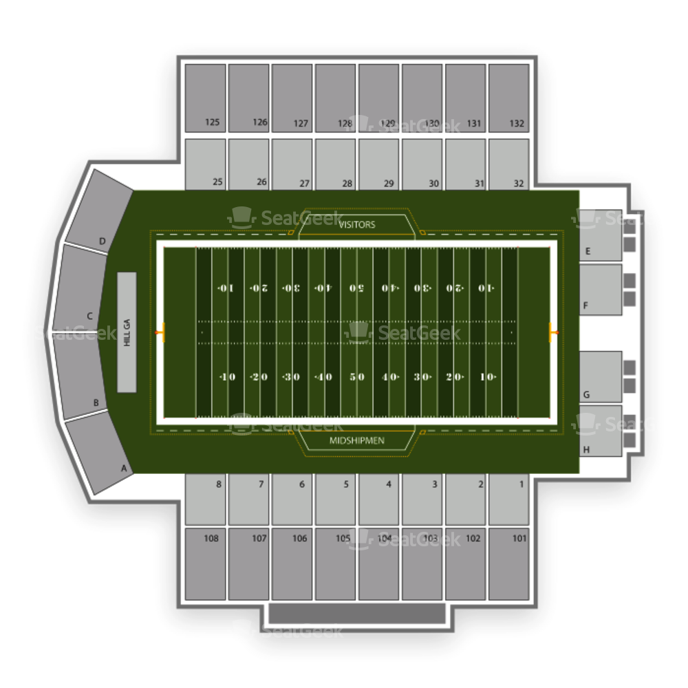 Navy Midshipmen Football Seating Chart