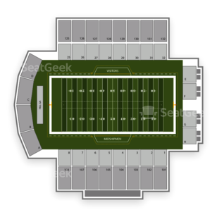 Navy Midshipmen Football Seating Chart Amp Interactive Map