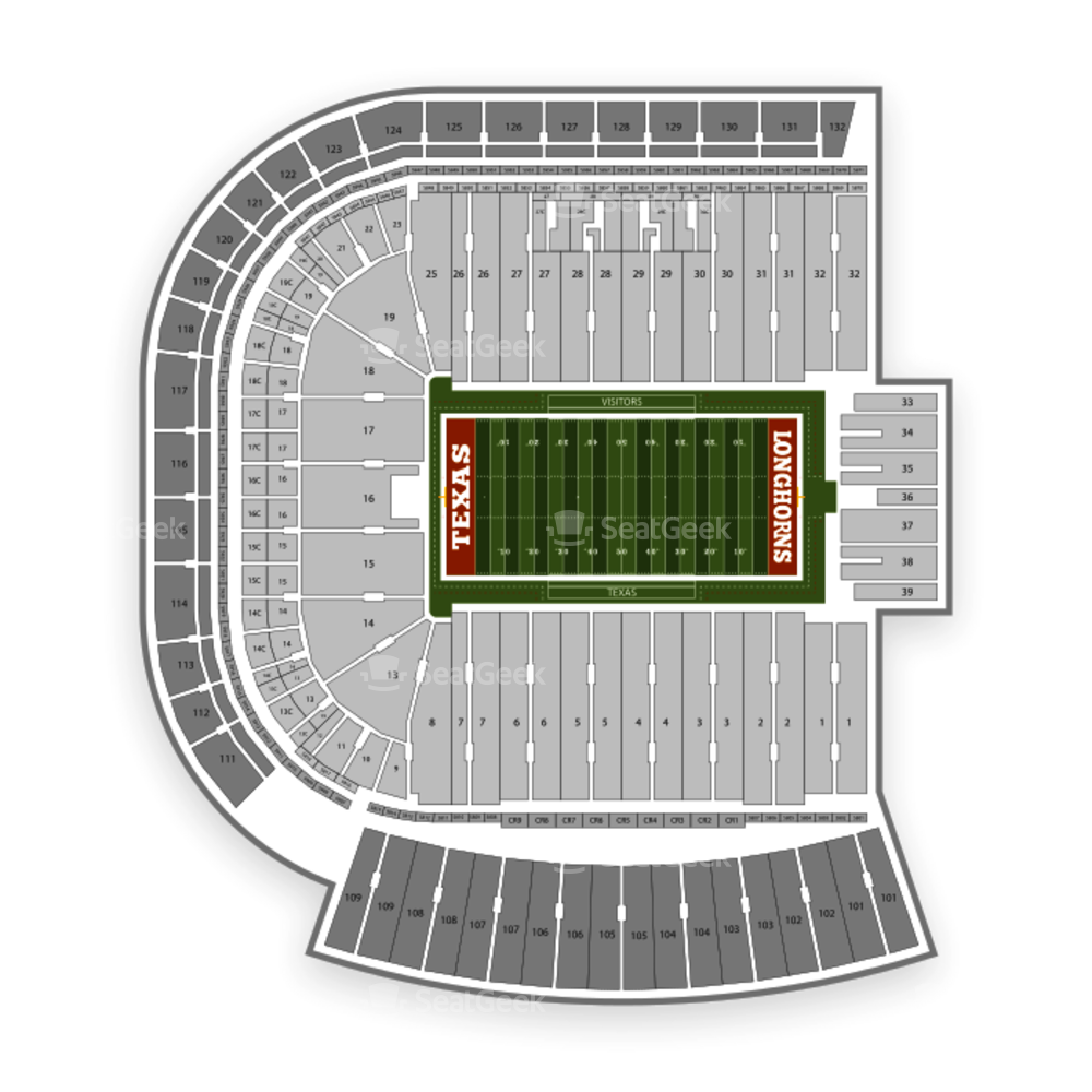 Darrell K Royal Texas Memorial Stadium Seating Chart Parking