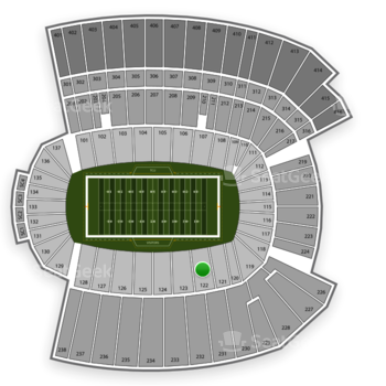 Armed Forces Bowl at Amon G. Carter Stadium Section 122 View