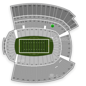 Armed Forces Bowl at Amon G. Carter Stadium Section 213 View