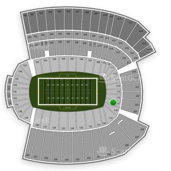 TCU Horned Frogs Football at Amon G. Carter Stadium Section 117 View
