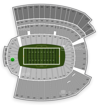 TCU Horned Frogs Football at Amon G. Carter Stadium Section 132 View