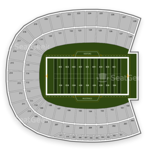 SMU Mustangs Football Seating Chart