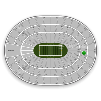 USC Trojans Football at Los Angeles Sports Arena Section 15 View