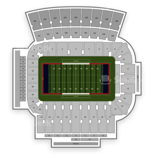 Arizona Stadium Seating Chart NCAA Football