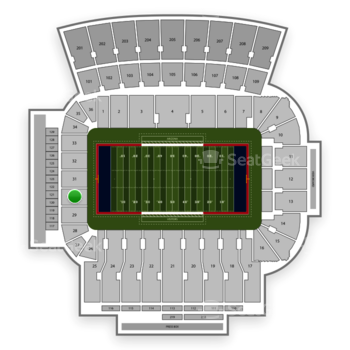 Arizona Wildcats Football At Stadium Section 30 View