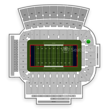 NCAA Football at Arizona Stadium Section 10 View