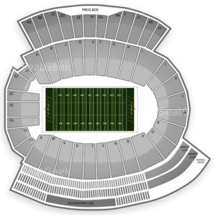 University of Nebraska-Omaha Football Seating Chart