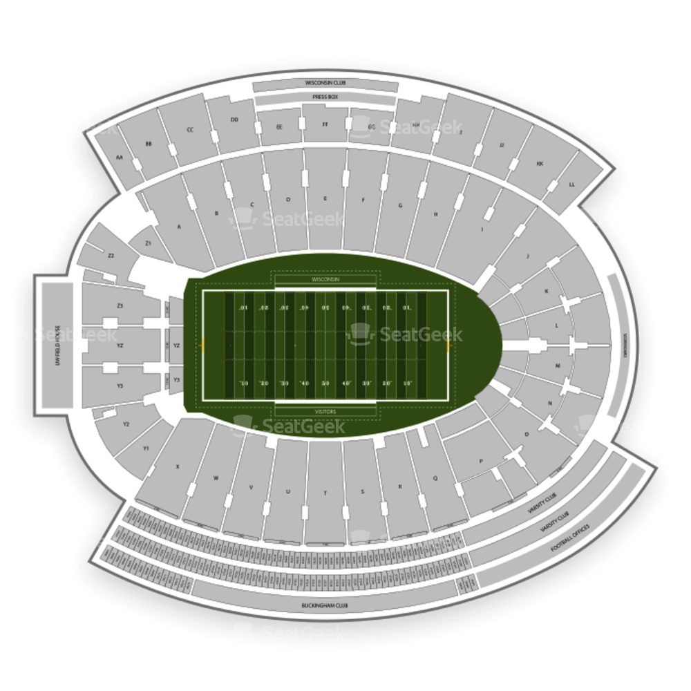 Wisconsin Badgers Football Seating Chart
