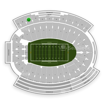 Wisconsin Badgers Football at Camp Randall Stadium Section CC View