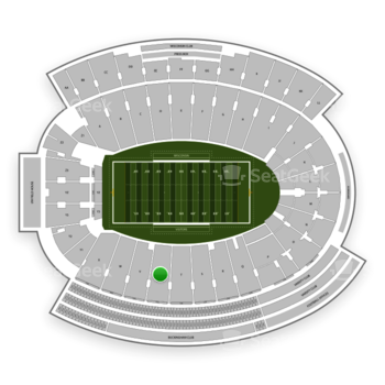 Wisconsin Badgers Football at Camp Randall Stadium Section U View