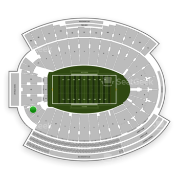 Wisconsin Badgers Football at Camp Randall Stadium Y 2 View