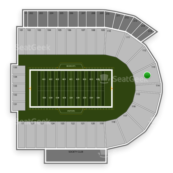 Cincinnati Bearcats Football at Nippert Stadium Section 113 View