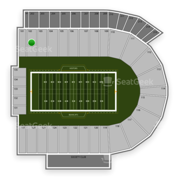 Cincinnati Bearcats Football at Nippert Stadium Section 102 View