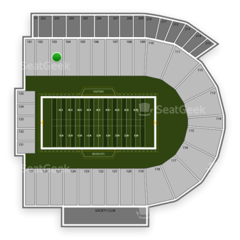 Cincinnati Bearcats Football at Nippert Stadium Section 103 View