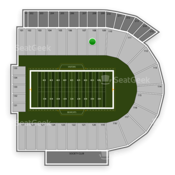 Cincinnati Bearcats Football at Nippert Stadium Section 108 View