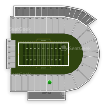 Cincinnati Bearcats Football at Nippert Stadium Section 121 View