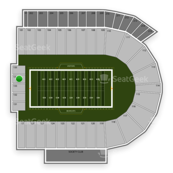 Cincinnati Bearcats Football at Nippert Stadium Section 134 View
